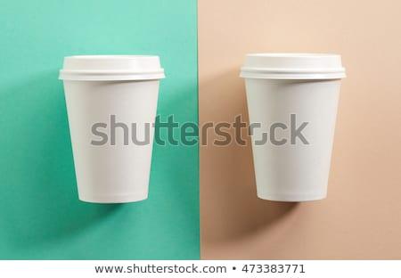 Two take away coffee cups Stock photo © karandaev
