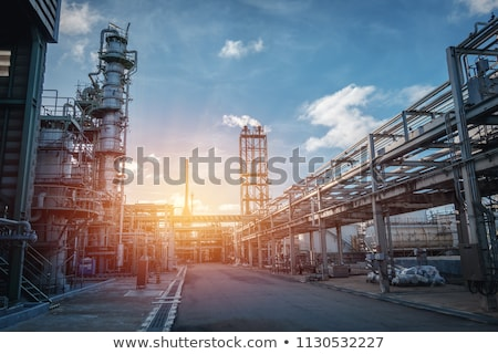 a factory sunset background stock photo © bluering