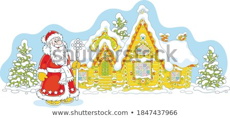 サンタクロース キャビン 家 実例 空 自然 ストックフォト © colematt
