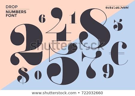 Schriftart Zahlen klassischen Französisch Stil zeitgenössischen Stock foto © FoxysGraphic