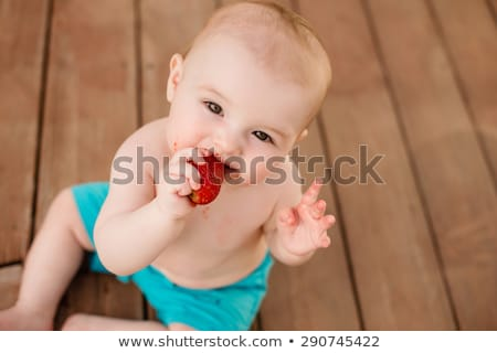 甘い 赤ちゃん 少年 プール 肖像 ストックフォト © Anna_Om