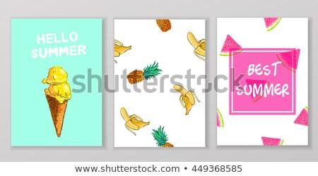 hello summer icecream background design Stock photo © SArts