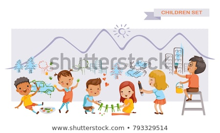 çocuk el öğrenmek fikir örnek çocuk Stok fotoğraf © lenm