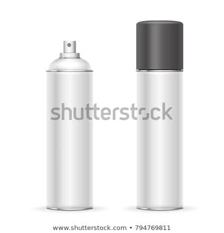 Spray illustrazione 3d isolato bianco corpo vernice Foto d'archivio © montego
