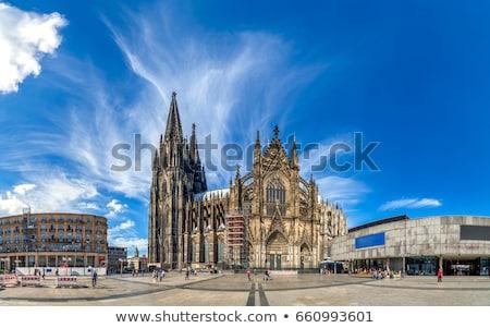 Сток-фото: мнение · собора · Германия · моста · вечер