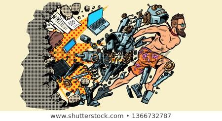 робота человека искусственный интеллект стены Новая жизнь компьютеры Сток-фото © studiostoks