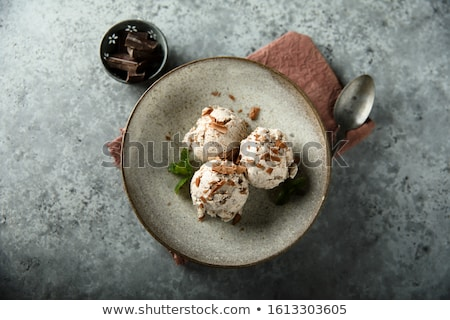 Vanille crème glacée chocolat puces fraîches sorbet Photo stock © joannawnuk