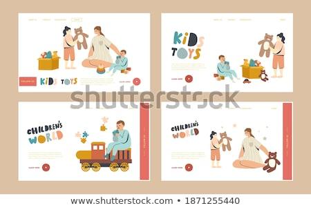 Playroom for kids concept landing page Stock photo © RAStudio