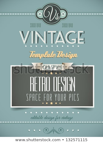 old theme business card design in retro style Stock photo © SArts