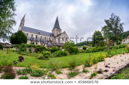 Manastır Fransa bulut tarih kule din Stok fotoğraf © borisb17