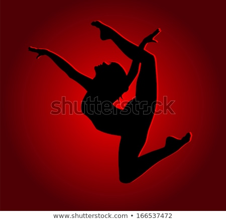 dancing woman silhouette lady in nightclub vector stock photo © robuart