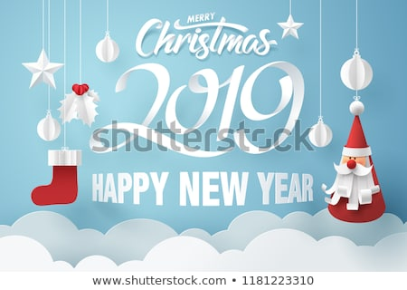 Holiday background Merry Christmas and Happy New Year. Xmas design with realistic festive objects, s Stock photo © ikopylov