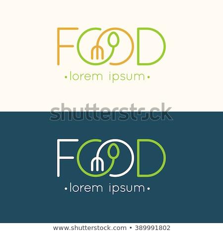 Modern minimalista étterem menü sablon zöld Stock fotó © orson