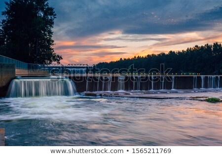 The overflow at Penrith Weir Stock photo © lovleah
