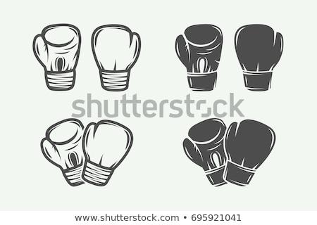 Boxing Glove Protect Sportwear Monochrome Vector Stock photo © pikepicture