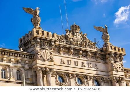 Barcelona starych urząd celny budynku szczegół portu Zdjęcia stock © boggy