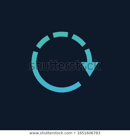 Frissít ikon biztonsági mentés szimbólum nyíl háló Stock fotó © kyryloff