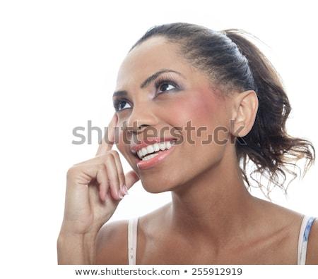 Személy gondolkodik helyzet portré gondolkodik depresszió Stock fotó © Lopolo