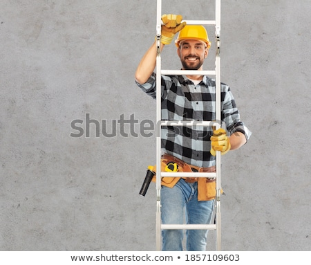 Handyman Climbing Ladder Stock photo © AndreyPopov