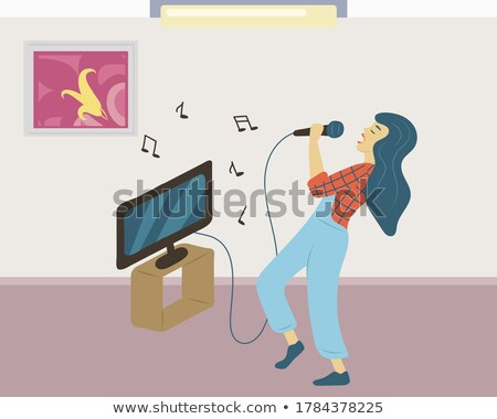 Singing Woman, Vocalist Hobby of Lady Pastime Stock photo © robuart