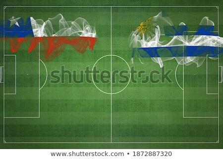 Чили против Уругвай футбола матча иллюстрация Сток-фото © olira