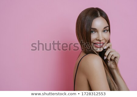 Atraente sorridente morena senhora manicure Foto stock © vkstudio