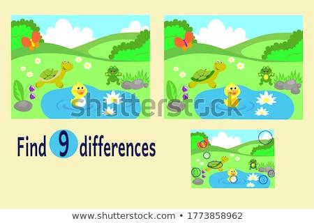 Plek verschil test onderwijs spel kinderen Stockfoto © Olena