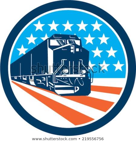 американский дизельный локомотив поезд мнение Сток-фото © patrimonio