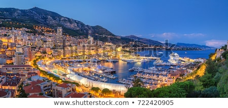 nacht · Monaco · berg · water · zomer - stockfoto © vladacanon