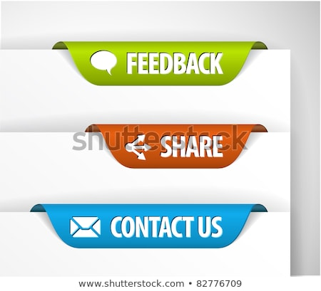 vector feedback share and contact labels stock photo © orson