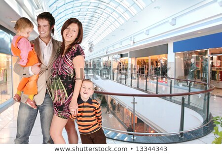pregnant family in universal store Stock photo © Paha_L