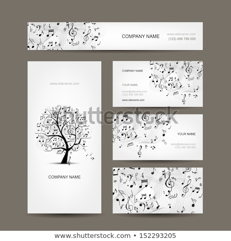 Musicians business card Stock photo © oliopi
