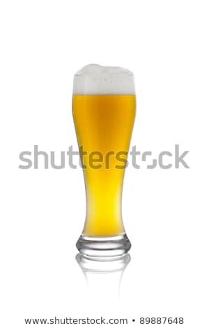 foam in glas of wheat beer Stock photo © pterwort