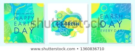 ネオン 緑 世界 抽象的な 実例 世界地図 ストックフォト © marinini
