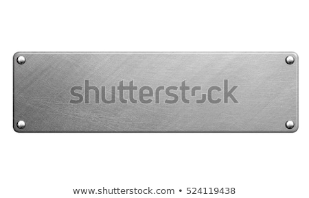 Metal plaque Stock photo © timbrk