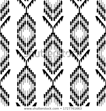Stock photo: Blue fabric curtain with ornament, background, Eps10