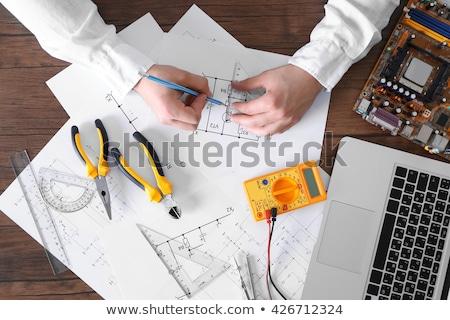 電気 · スイッチ · クローズアップ · ボックス · 木材 · ビーム - ストックフォト © photography33