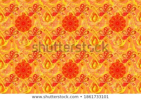 оранжевый · цветы · деревянный · стол · Солнечный · bokeh - Сток-фото © boroda