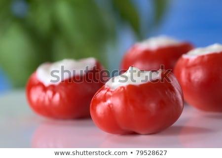 piccolo · caldo · rosso · pepe · panna · acida - foto d'archivio © ildi