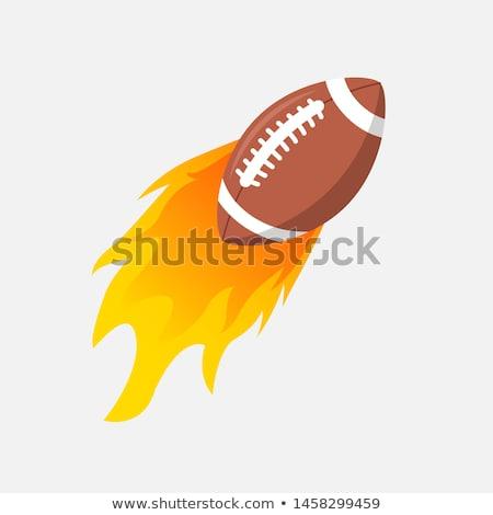 american football ball flaming vector cartoon stock photo © chromaco
