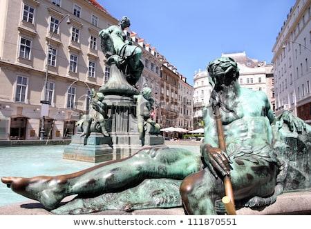 The Donner Fountain (Donnerbrunnen) in Neuer Markt in Vienna, Au Stock photo © vladacanon