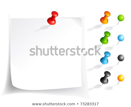оранжевый бумаги Pin твердый карта бизнеса Сток-фото © Sniperz