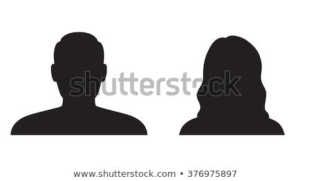 女性 頭 シルエット レンダー 孤立した 固体 ストックフォト © RandallReedPhoto
