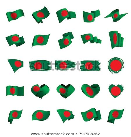Imagem coração bandeira Bangladesh país Foto stock © perysty