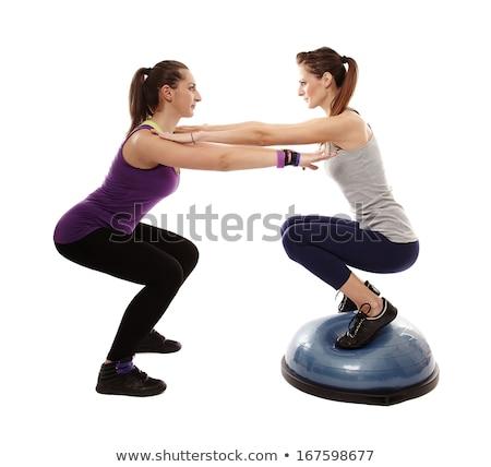 Bosu ball for fitness instructor woman in aerobics Stock photo © lunamarina