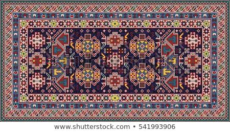 Vector Illustration geometrical mosaic pattern in blue tones Stock photo © leonido
