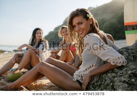 Young women at the beach together Stock photo © photography33
