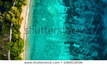gyönyörű · trópusi · sziget · széles · látószögű · halszem · kilátás - stock fotó © smithore