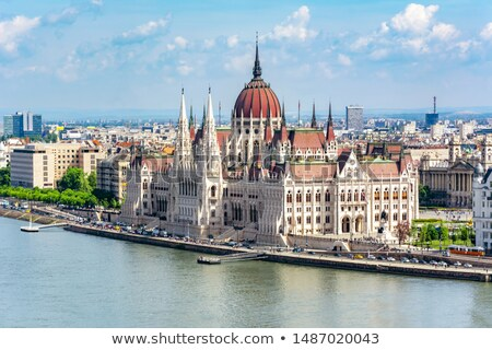 The cupola of the Hungarian Parliament Stock photo © jakatics