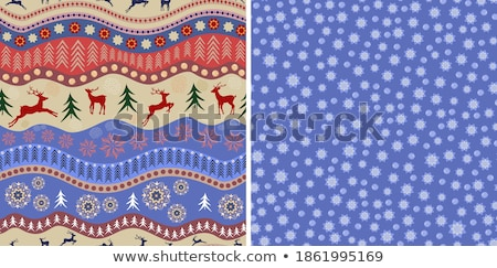 set of seamless snowflake patterns stock photo © angelp